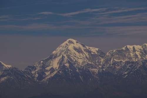 White Capped Mountain Peaks Photo