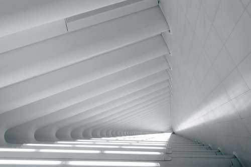 White Linear Angled Architecture Photo