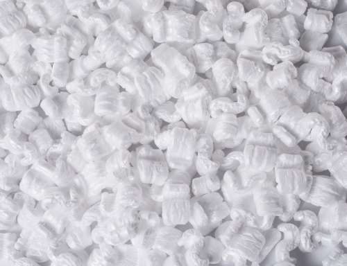 White Packing Peanuts On table Photo