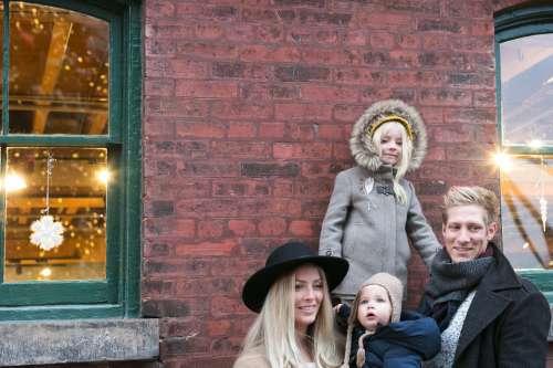 Winter Family Portrait Photo