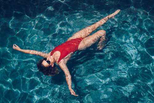 Woman In Pool Photo