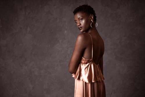 Woman In Silk Photo