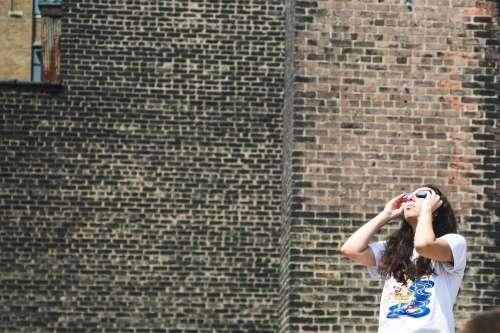 Woman Sun Watcher Photo