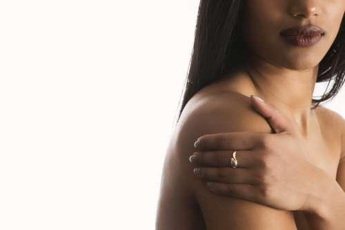 Womans Bust Hand Shoulder Photo