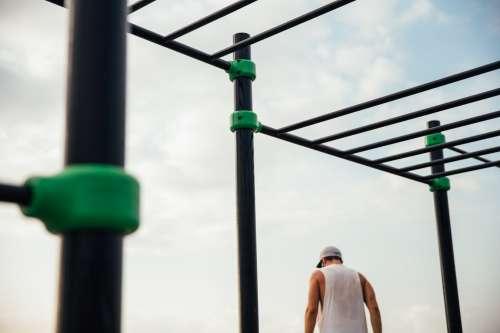 Workout Bars At Park Photo
