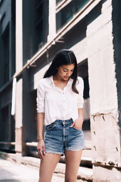 Young Woman In Casual Fashion Photo