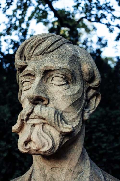 Bust monument closeup