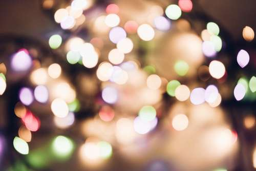 Christmas lights pastel bokeh