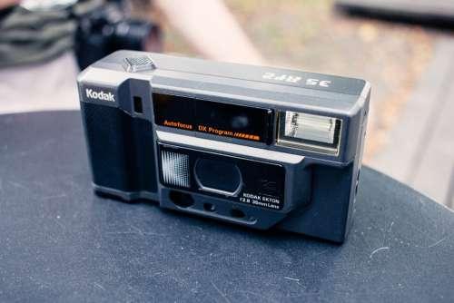 Compact automatic film camera