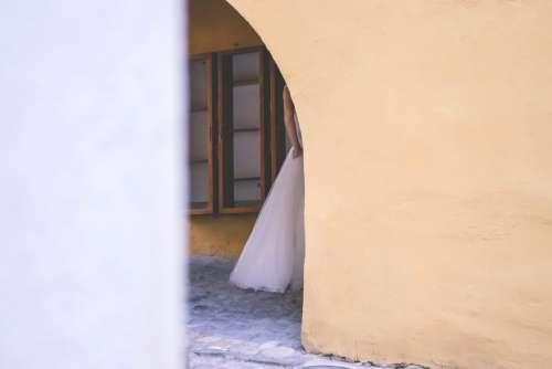 Fragment of a wedding dress