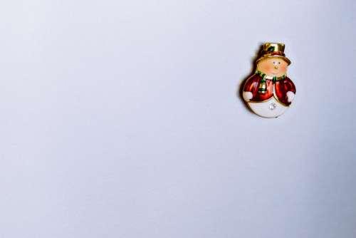 Fridge snowman magnet