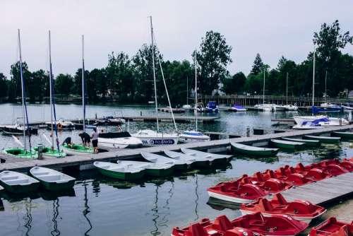 Harbor at the lake