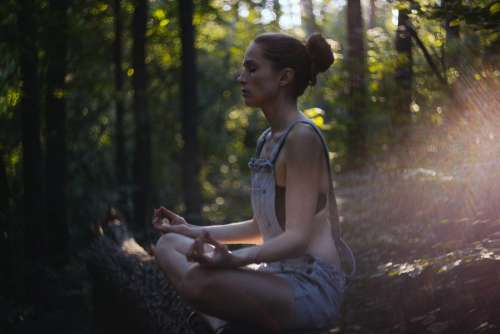 Helios shot of a girl meditating 2