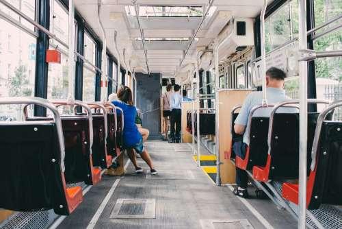 Inside of a tram 2