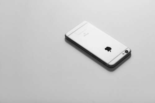 iPhone 6S in black and white