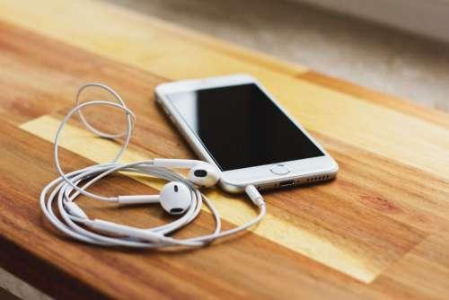 iPhone 6s with headphones