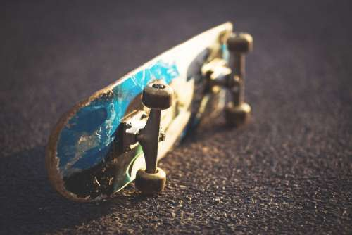 Laying skateboard 2