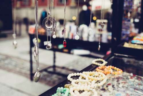 Outdoors jewelry display