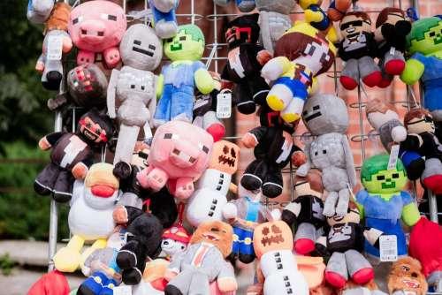 Pixel plush toys