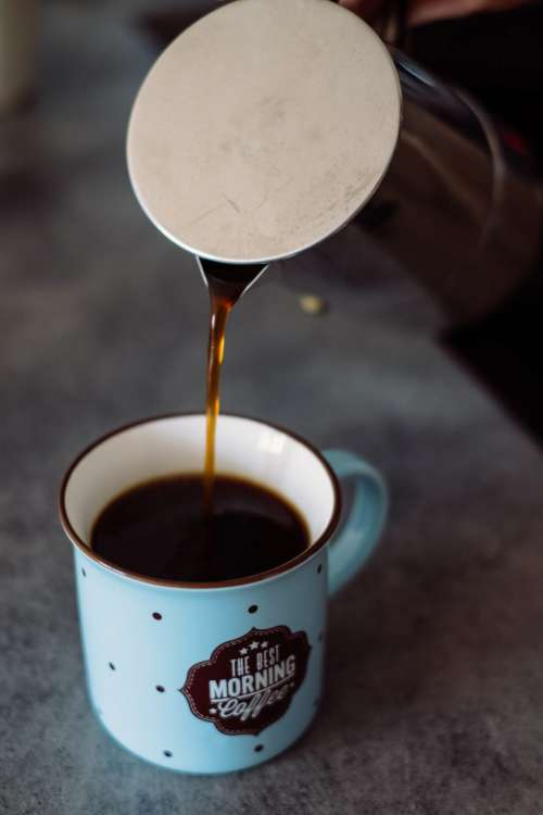 Pouring coffee from a percolator 2