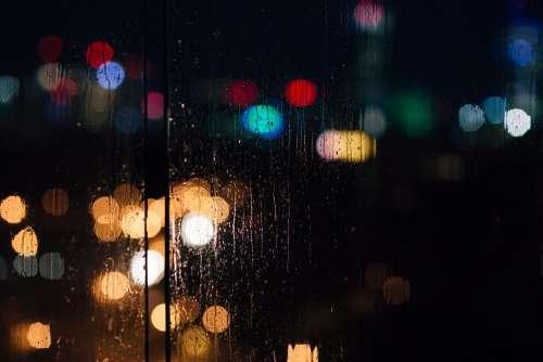 Rain bokeh 4