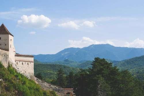 Râșnov castle landscape