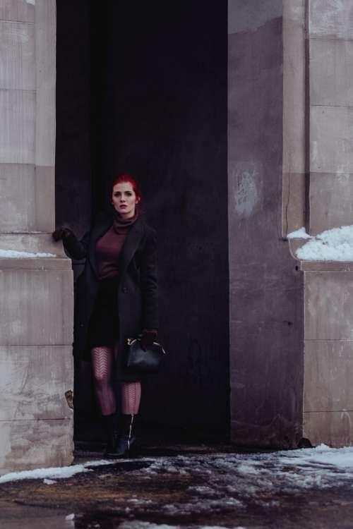 Redhead model winter shoot 3