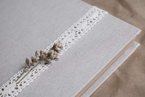 Rustic linen photo album