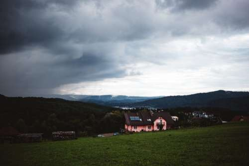 Storm approaching in Bieszczady Mountains