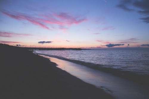 Sunset at seashore 2