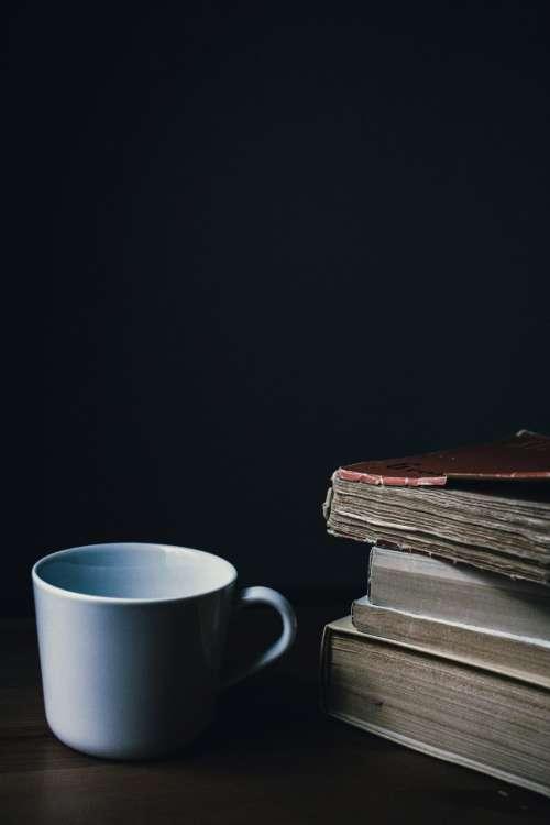 Tea mug and a pile of books 2