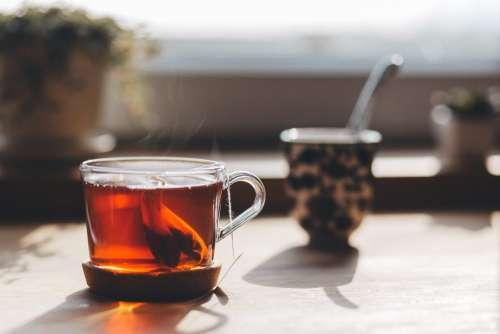 Tea on the countertop