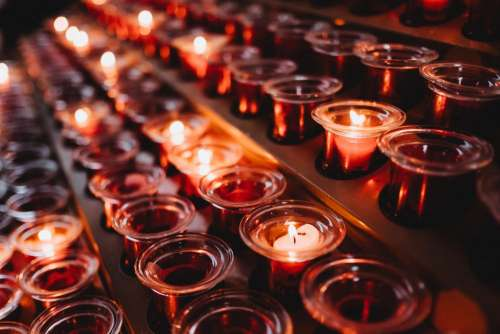 Votive candles 6