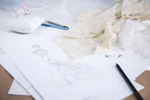 Wedding dress sketch 2