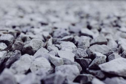 White and gray stones closeup 2