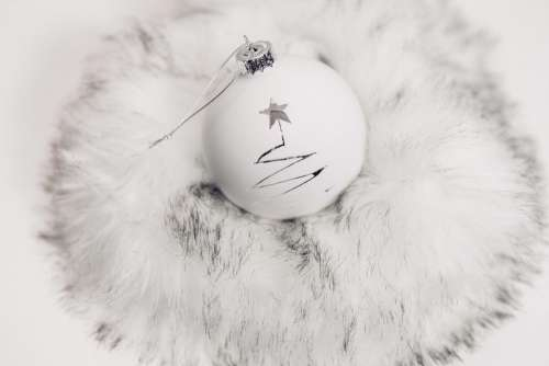 White and silver bauble