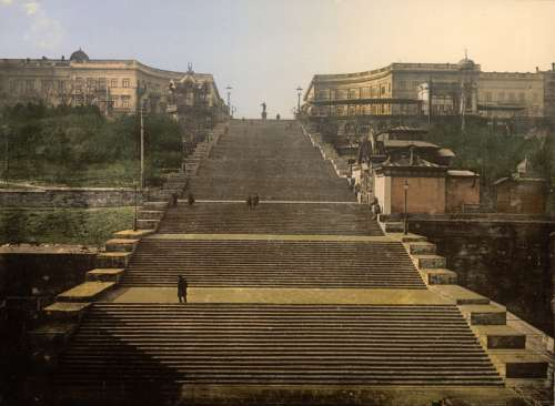 142-metre-long Potemkin Stairs in Odessa, Ukraine free photo