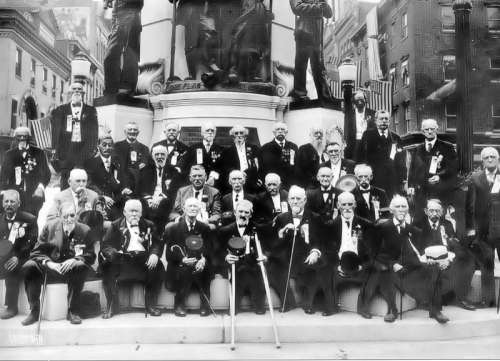 1911 photograph of the 50th Reunion of the Allen Infantry in Allentown, Pennsylvania free photo