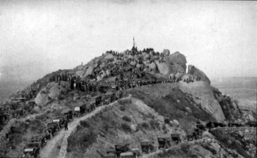 1913 Mount Rubidoux Easter Sunrise Services in Riverside, California free photo