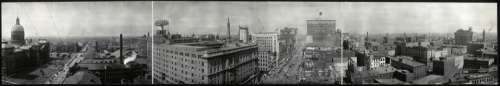 1914 panorama of downtown Indianapolis, Indiana free photo
