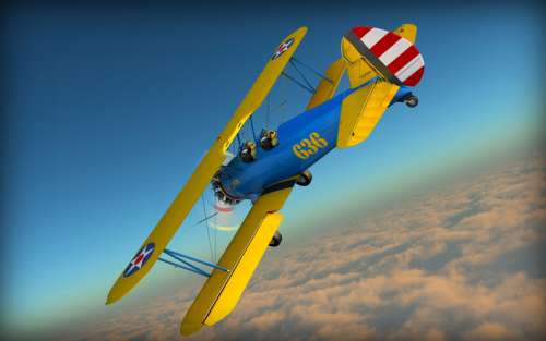 3d model plane flying in the air free photo