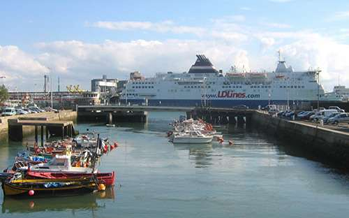 A Ferry in the port of Le Havre free photo