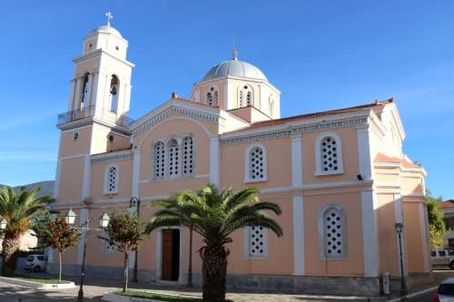 Agios Ioannis church in Kalamata, Greece free photo