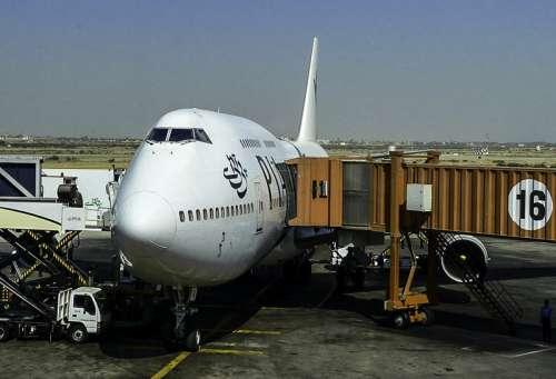 Aircraft at Karachi Airport in Pakistan free photo