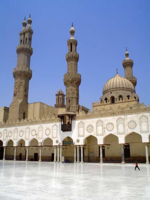 Al-Azhar Mosque in Cairo, Egypt free photo
