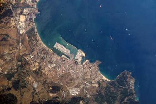 Algeciras satellite image, Spain free photo