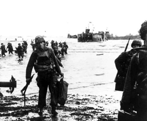 American Assault on Utah Beach during D-Day, World War II free photo