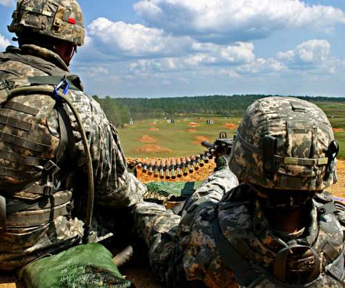 Ammunition and gun training for Echo Company in Mississippi free photo