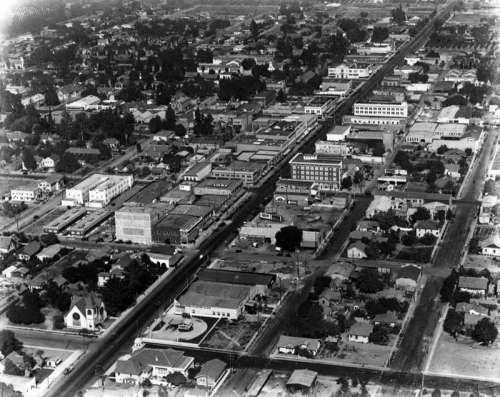 Anaheim Cityscape in 1922 in California free photo