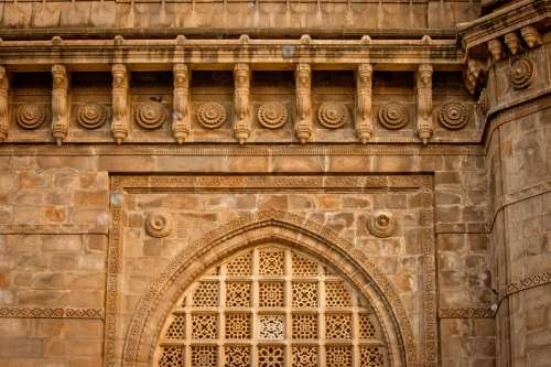 Ancient stone temple in Mumbai, India free photo